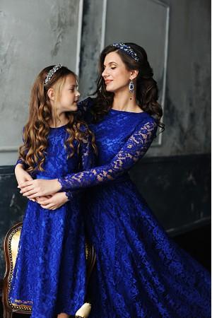 """Ажур2"" синий Family look"
