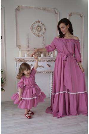 """Комплект платьев """"Нежность"""" family look"""