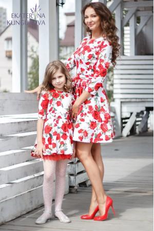 """""""Розы на белом"""" family look"""