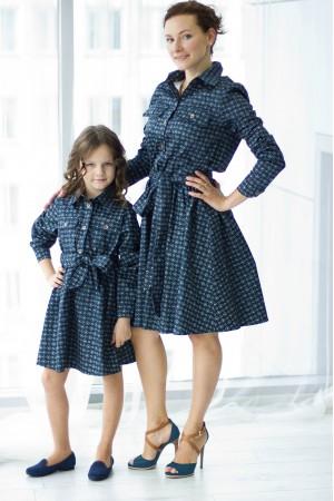 """""""Платье-рубашка"""" family look"""