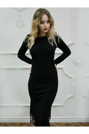 Платье-лапша с кружевом